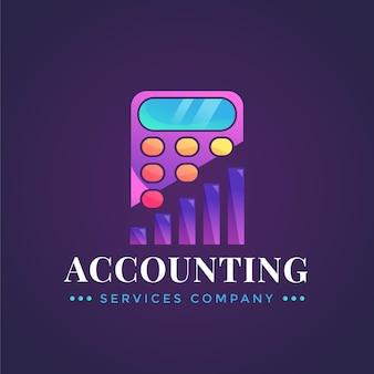 Gradientowe logo rachunkowości na ciemnym tle