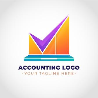 Gradientowe logo rachunkowości z hasłem