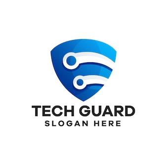 Gradientowe logo strażnika online