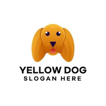 Gradientowe logo z głową psa