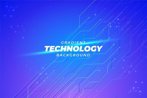 Gradientowe niebieskie tło technologii