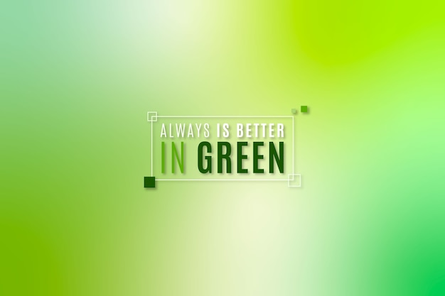 Gradientowe odcienie zieleni