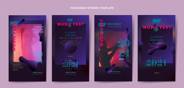 Gradientowe opowieści o festiwalu muzycznym na instagramie