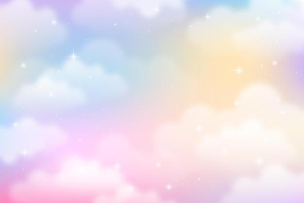 Gradientowe pastelowe tło nieba