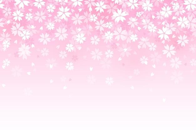 Gradientowe piękne tło kwiaty sakura