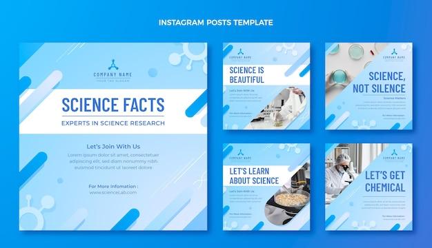 Gradientowe posty naukowe na instagramie