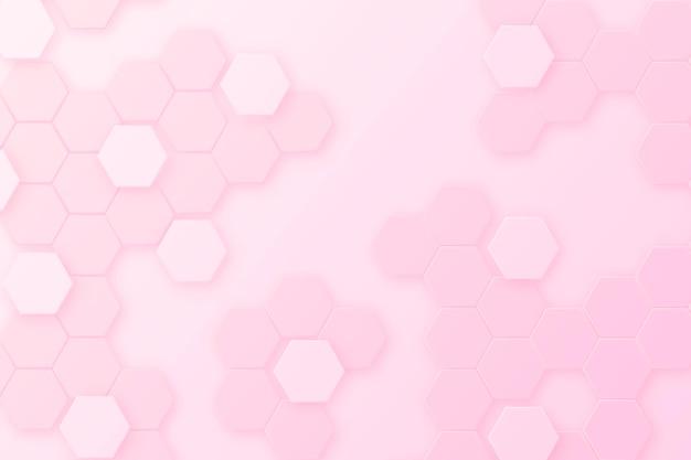 Gradientowe różowe tło sześciokątne