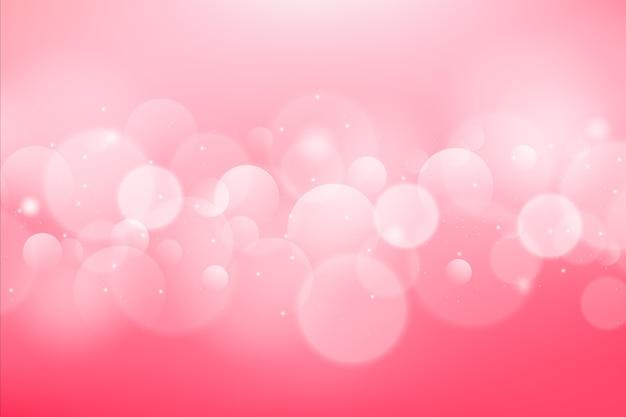 Gradientowe Różowe Tło Z Efektem Bokeh Premium Wektorów