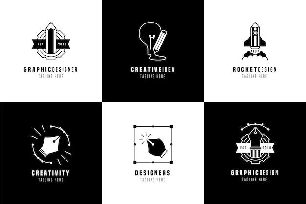Gradientowe szablony logo grafików