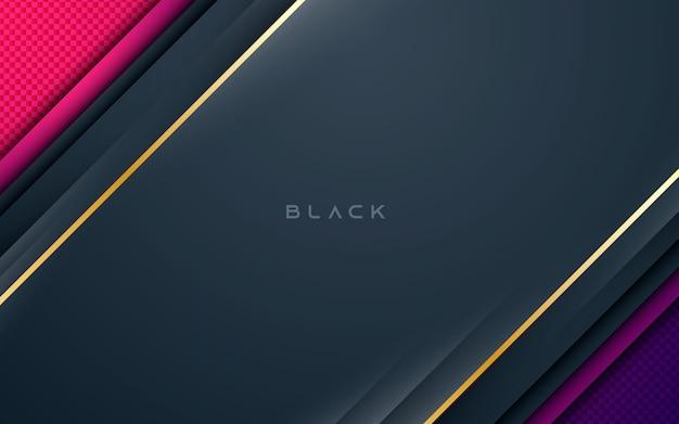 Gradientowe tekstury nakładają się na warstwę na czarnym tle