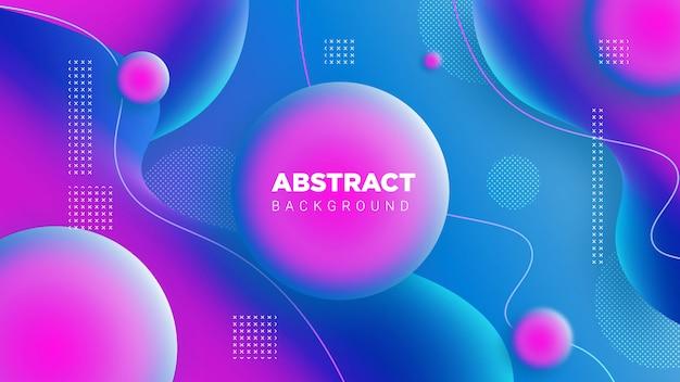 Gradientowe tło abstrack 3d w kolorze niebieskim