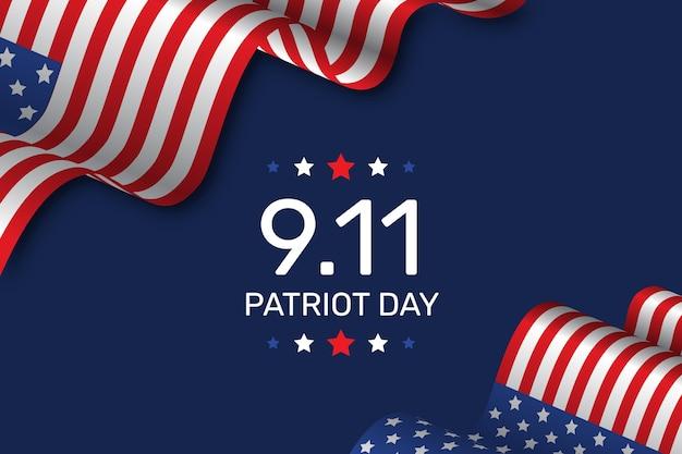 Gradientowe tło dnia patrioty 9.11