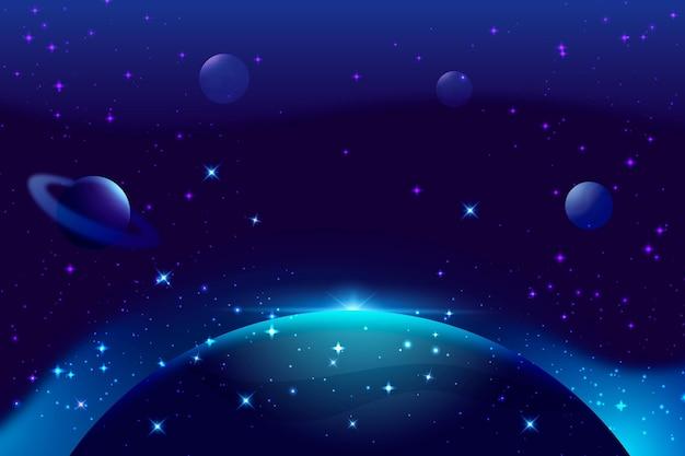 Gradientowe Tło Galaktyki Darmowych Wektorów