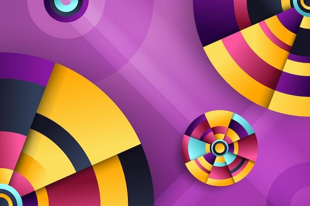 Gradientowe tło geometryczne
