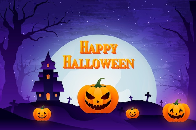 Gradientowe tło halloween