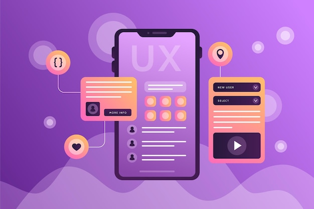 Gradientowe tło interfejsu użytkownika/ux