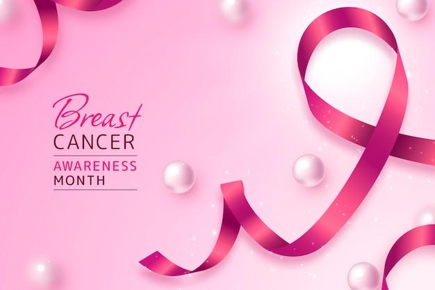 Gradientowe tło miesiąca świadomości raka piersi
