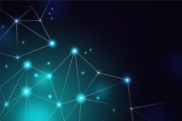 Gradientowe tło połączenia sieciowego