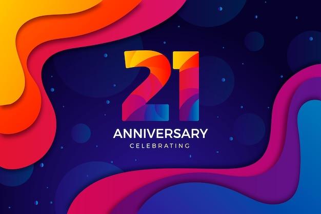 Gradientowe tło rocznica 21