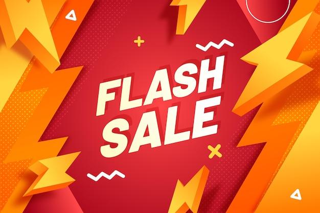 Gradientowe tło sprzedaży flash