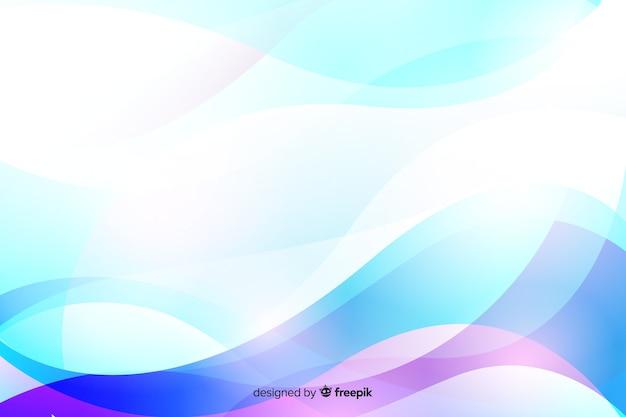 Gradientowe tło z dynamicznymi kształtami