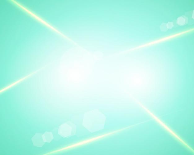 Gradientowe tło z zielonym i niebieskim efektem świetlnym mięty