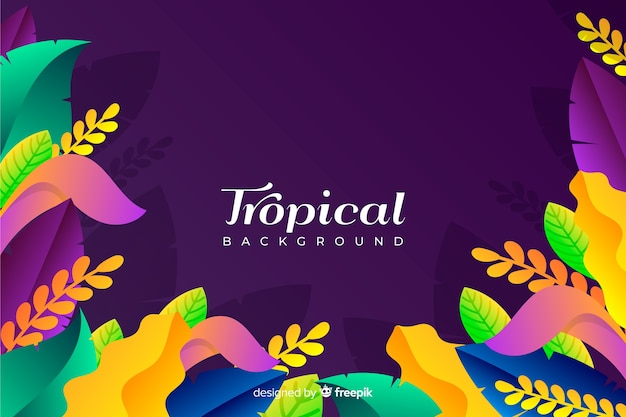 Gradientowe tropikalne tło