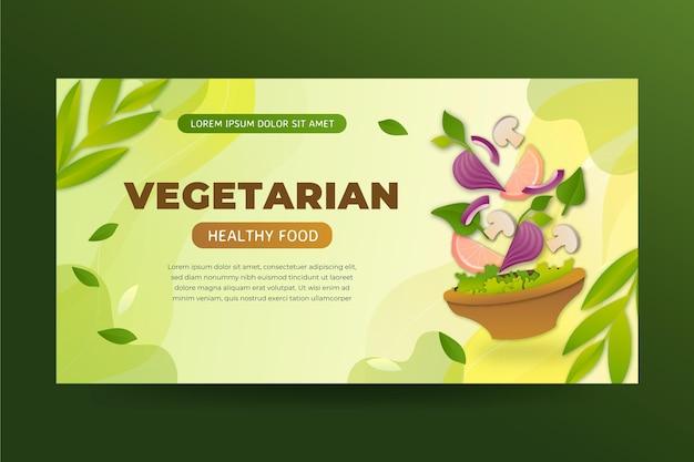 Gradientowe wegetariańskie jedzenie na facebooku