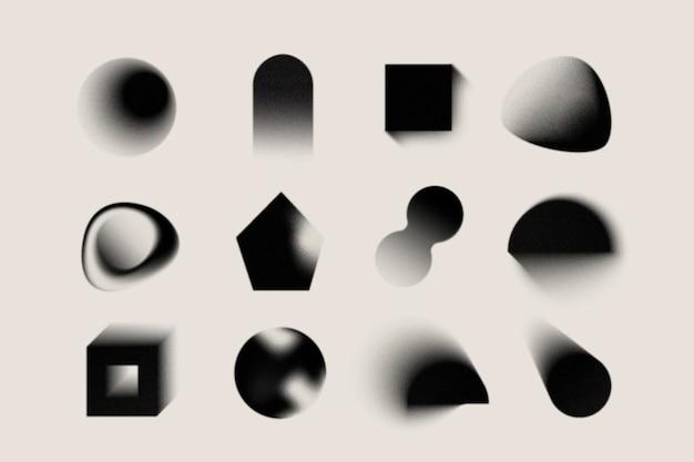 Gradientowe, ziarniste kształty gradientu