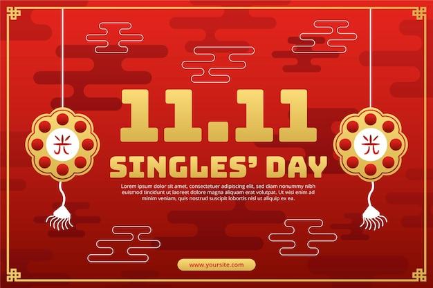 Gradientowe złote i czerwone tło dnia singli
