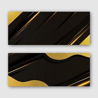 Gradientowe złote luksusowe banery