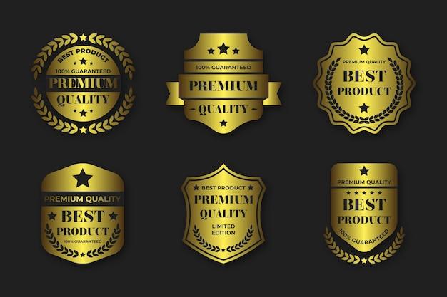 Gradientowe złote luksusowe odznaki