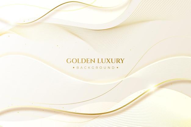 Gradientowe złote luksusowe tło