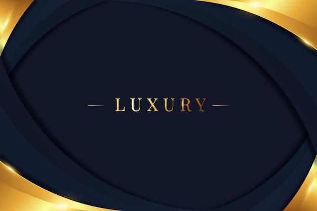 Gradientowe Złote Luksusowe Tło Premium Wektorów