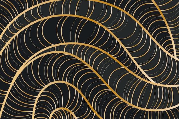 Gradientowe Złote Tło Liniowe Darmowych Wektorów