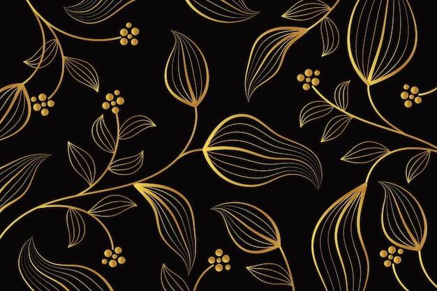 Gradientowe złote tło liniowe