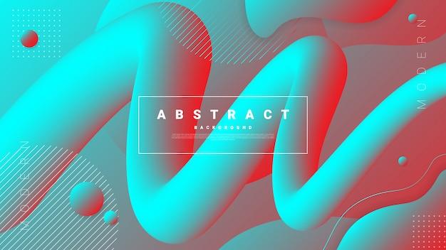 Gradientowy abstrakcjonistyczny tło z płynąć ciekłych kształty.