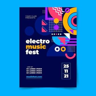 Gradientowy abstrakcyjny szablon plakatu muzycznego w pionie