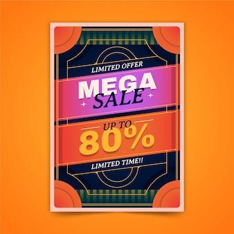 Gradientowy abstrakcyjny szablon plakatu pionowej sprzedaży