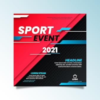 Gradientowy baner sportowy