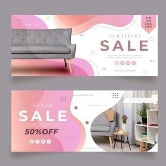 Gradientowy baner sprzedaży mebli