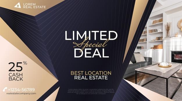 Gradientowy baner sprzedaży nieruchomości