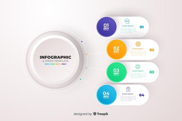 Gradientowy biznesowy infographics szablon