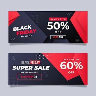Gradientowy czarny i czerwony koncepcja czarny piątek