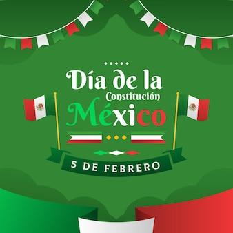 Gradientowy dzień konstytucji meksyku