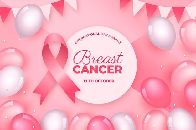 Gradientowy dzień międzynarodowy na tle raka piersi