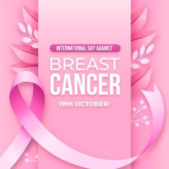 Gradientowy dzień międzynarodowy przeciwko ilustracji raka piersi