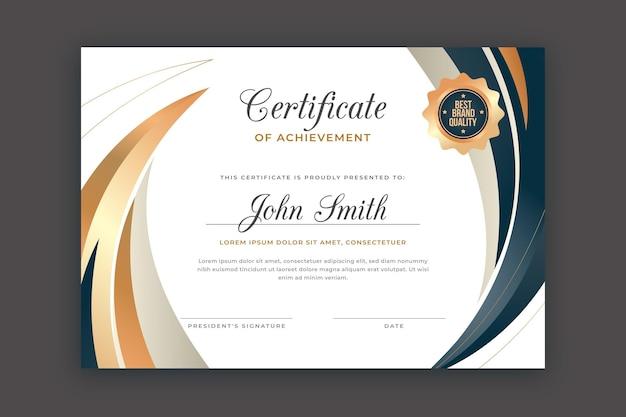 Gradientowy elegancki szablon dyplomu