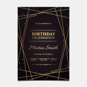 Gradientowy elegancki szablon zaproszenia urodzinowego