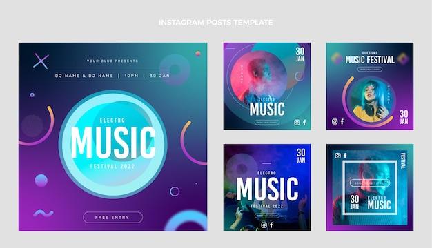Gradientowy festiwal muzyczny na instagramie post